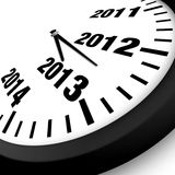 Concept New Year Clock. 2013 Concept New Year Clock Stock Photography