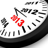 Concept New Year Clock. 2013 Concept New Year Clock Royalty Free Stock Image
