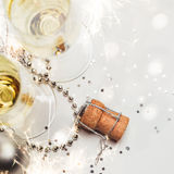 Concept of New year party background Royalty Free Stock Images