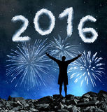 Concept New Year 2016. Stock Images