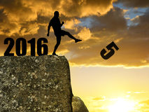 Concept New Year 2016 Stock Photo