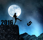 Concept New Year 2016 Royalty Free Stock Photos