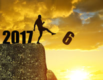 Concept New Year 2017 Royalty Free Stock Images