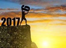 Concept New Year 2017 Royalty Free Stock Image