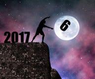 Concept New Year 2017. Stock Photos