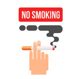 Concept of nicotine consumption, smoking pregnant Stock Images