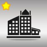 Concept noir de symbole de logo de bouton d'icône de bâtiment de haute qualité photo stock