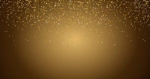 Concept noir de vacances de bonne ann?e de fond de scintillement de cascades d'?tincelle-bulles de champagne d'?toiles d'or de pa illustration stock