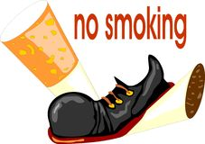 Concept non-fumeurs Photographie stock