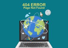 Concept non trouvé de problème d'Internet de page Image stock