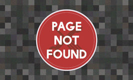 Concept non trouvé de problème du message 404 de page Photos libres de droits