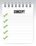 Concept notepad illustration design Stock Image