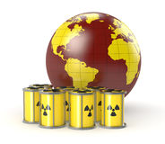 Concept of nuclear energy Stock Photos