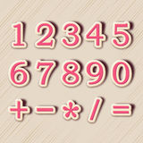 Concept of numbers with maths symbol. Royalty Free Stock Photography