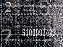 Concept of numbers Royalty Free Stock Photos