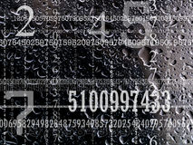 Concept of numbers Stock Photo