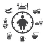 Concept of obesity Stock Photos