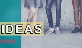 Concept objectif d'action de stratégie de proposition d'idées originales Photos libres de droits