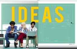 Concept objectif de mission de plan de développement de vision d'idée d'idées Photos libres de droits