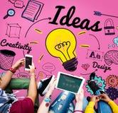 Concept objectif de mission de plan de développement de vision d'idée d'idées images libres de droits