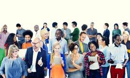 Concept occasionnel d'amitié de communication de personnes de la Communauté Image libre de droits