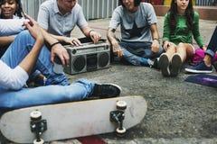 Concept occasionnel de style de la jeunesse de culture de mode de vie d'adolescents photo libre de droits