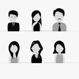 Concept of occupation characters. Stock Photography