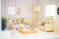 Free Concept Of A Small Room. Stock Photos - 124590463