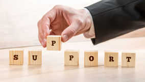 Concept Of Business Support And Customer Service Royalty Free Stock Photography
