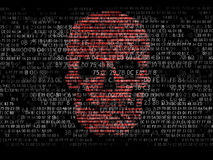 Concept Of Computer Security. The Skull Of The Hexadecimal Code. Pirate Online. Cyber Criminals. Hackers Cracked The Code Royalty Free Stock Photo