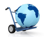 Concept Of Deliver Everywhere Royalty Free Stock Photo
