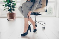 Free Concept Of Getting Varicose Because Of Wearing High Heels. Cropp Royalty Free Stock Photos - 109716218
