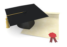Concept Of Graduation Royalty Free Stock Photography