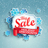 Concept Of Holiday Discount, Vector. Royalty Free Stock Images