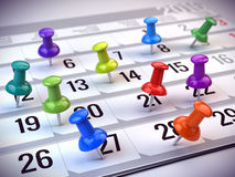 Concept Of Important Day, Reminder, Organizing Time And Schedule - Red Pen Marking Day Of The Month On A Calendar Royalty Free Stock Image