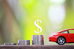 Concept Of Investing In Automotive Business. Royalty Free Stock Image