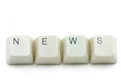 Concept Of Online News Media Royalty Free Stock Images