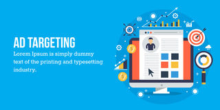 Free Concept Of Targeted Adverting - Web Banner Vector Illustration Royalty Free Stock Image - 97350026