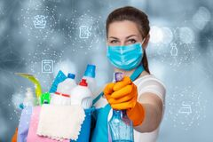 Free Concept Of The Provision Of Cleaning Services Royalty Free Stock Image - 185564246