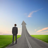 Concept Of The Road To Success Stock Photos