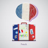 Concept Of Travel Or Studying French. Royalty Free Stock Photo