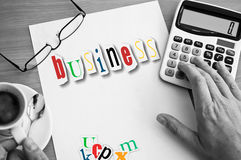 Concept office  and word business Stock Images
