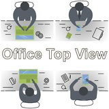 Concept of office workplace Stock Photos