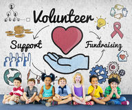 Concept offrant volontaire volontaire d'Assisstant d'aide Photographie stock