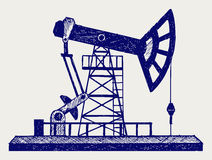 Concept of oil industry Stock Image