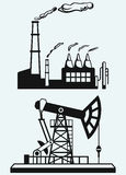 Concept of oil industry and factory Royalty Free Stock Images