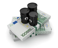 Concept of oil market Stock Photos