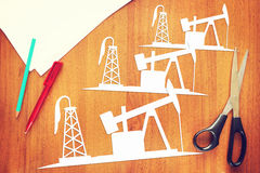 Concept of oil production growth Royalty Free Stock Photos