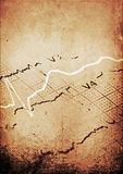 Concept old grunge graph Ekg background Stock Photography