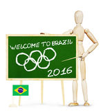 Concept of Olympic Games in Brazil Royalty Free Stock Photos